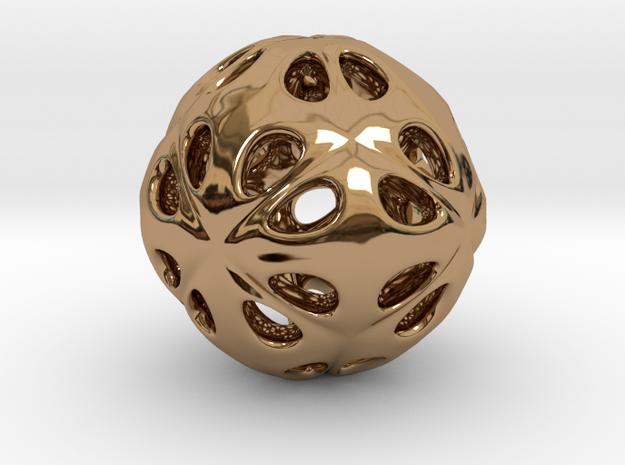 hydrangea ball 07 in Polished Brass
