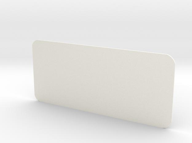 Closed Rear Side Window Left D90 D110 Gelande 1:10 in White Processed Versatile Plastic