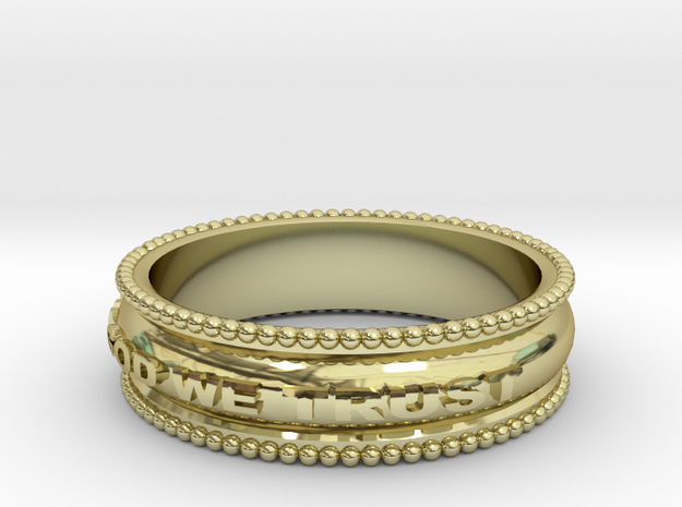 In God We Trust Band size 11 in 18k Gold Plated Brass