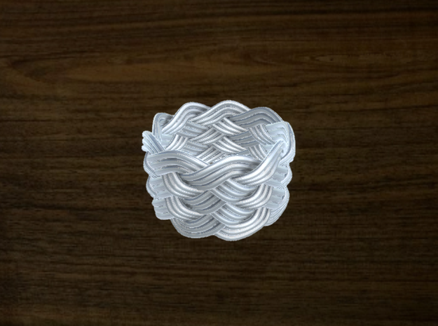 Turk's Head Knot Ring 6 Part X 9 Bight - Size 7.25 3d printed