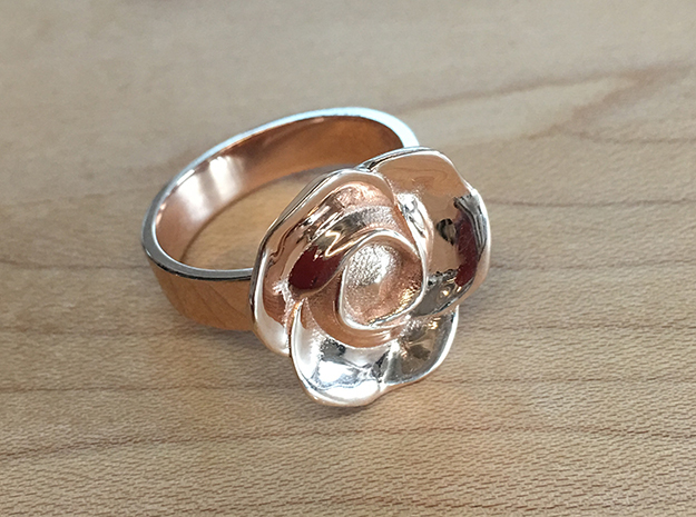BlakOpal Rose Ring Size 8.5