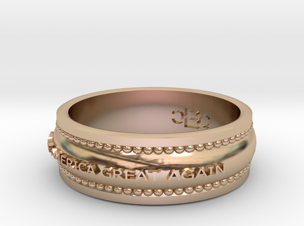 size 8 1/2 Make America Great Again Band in 14k Rose Gold Plated Brass