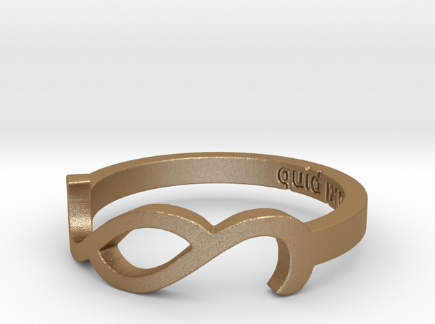 Paragraph - quid pro quo Ring Size 6 in Matte Gold Steel