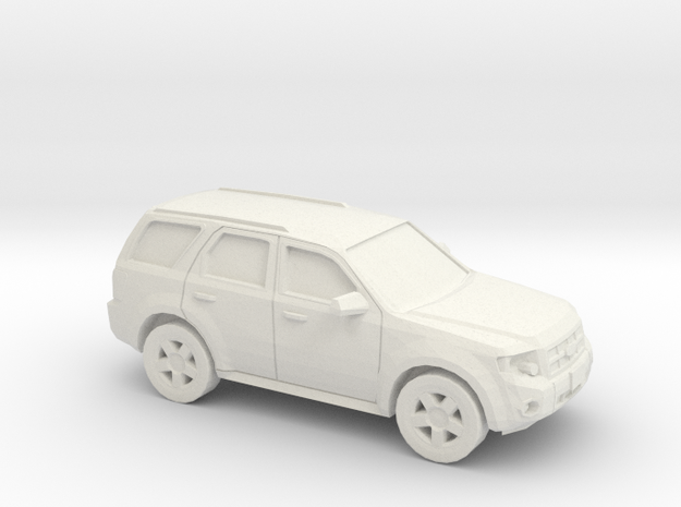 1/87 2008-12 Ford Escape in White Natural Versatile Plastic