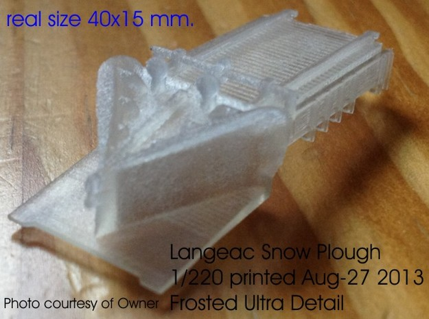 Z 1-220 French Long Langeac Railway Snow Plough 3d printed
