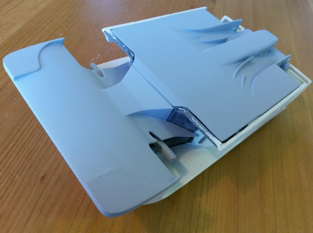 Toyota Eagle MkIII Rear Diffuser, 1/24 in White Strong & Flexible