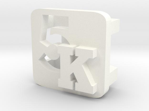 BandBit 5K for Fitbit Flex in White Processed Versatile Plastic