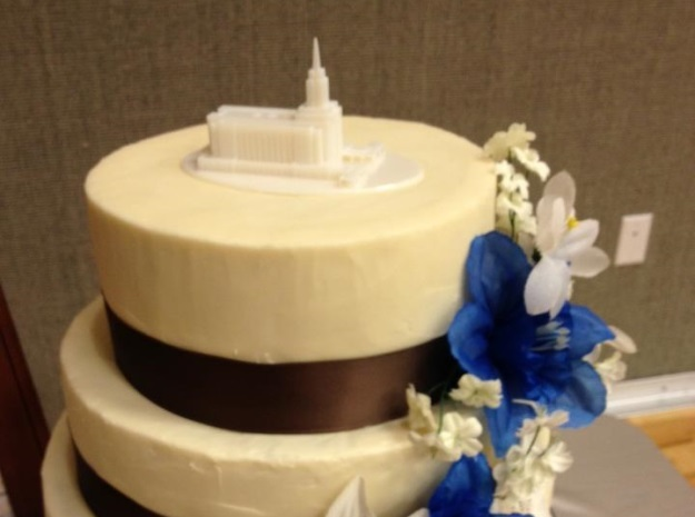 Wedding Topper, LDS Oquirrh Mountain, Utah Temple 3d printed