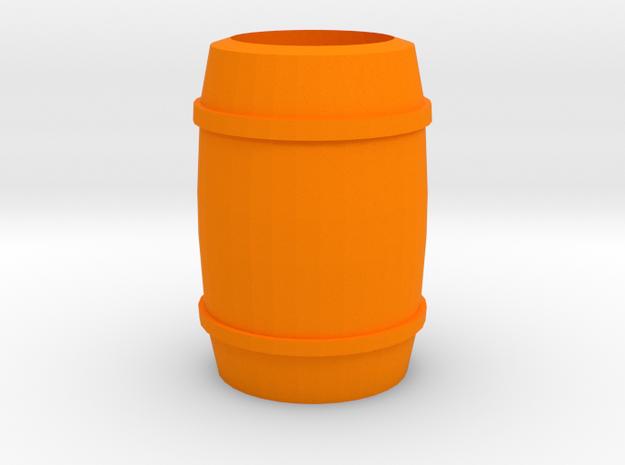 """Barrel"" - A Monopoly figure in Orange Processed Versatile Plastic"