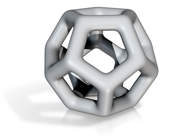 DRAW geo - sphere pentagons in White Strong & Flexible