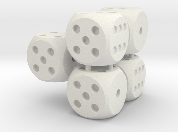 Yahtzee Dices Kit in White Strong & Flexible