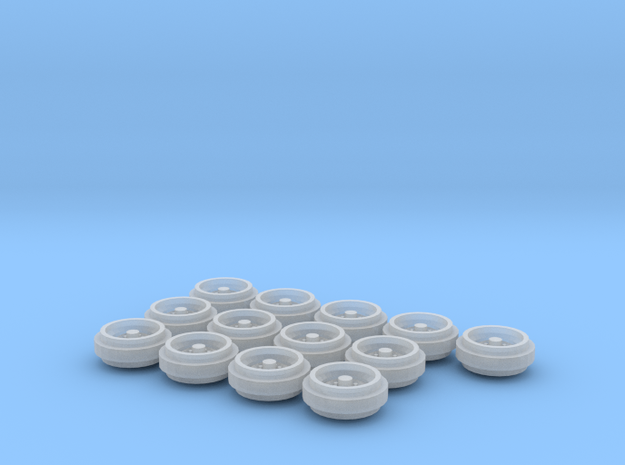 1/64 Pickup Truck Rims 60s & 70s Style 3 Sets in Frosted Ultra Detail