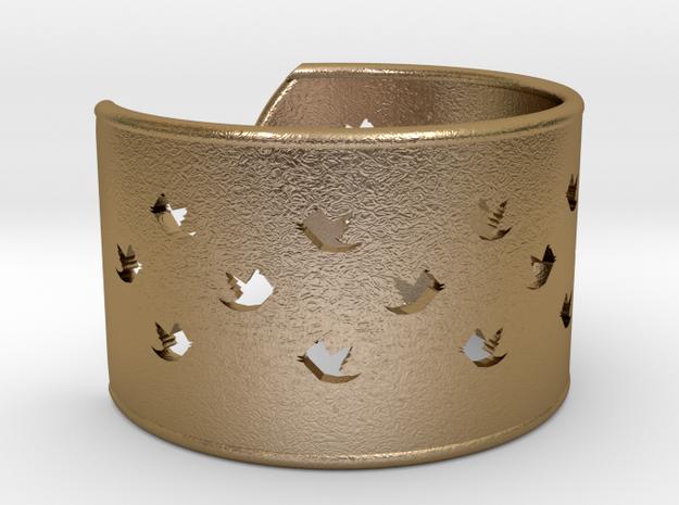 Bird Bracelet X Small Ø53 Mm/Ø2.086 inch in Polished Gold Steel