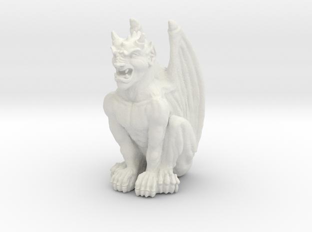 Gargoyle Statue v2 in White Natural Versatile Plastic