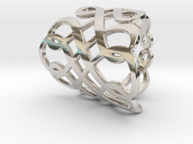 Celtic Knot Ring Size 6 in Rhodium Plated Brass