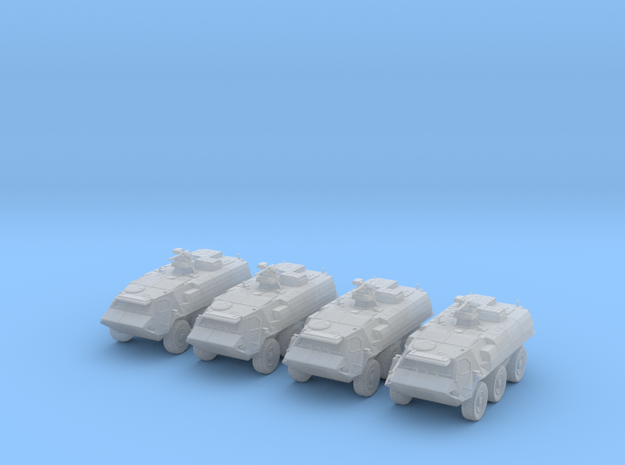 1:285 German TPz Fuchs 1A8 Platoon of Four in Smoothest Fine Detail Plastic