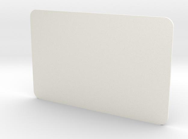 Closed Window Rear Door D90 D110 Gelande 1:10 in White Strong & Flexible Polished