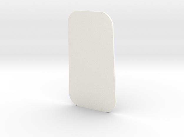 Closed Window Rear Side Right D90 D110 Gelande 1:1 in White Processed Versatile Plastic