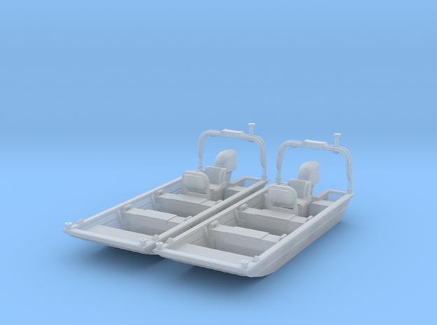 Flat Bottom Boat 01.  HO Scale (1:87)