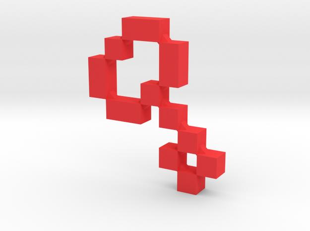 MM Key (Large) in Red Processed Versatile Plastic