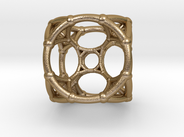 0500 Stereographic Trancated Polychora 5-cell in Polished Gold Steel