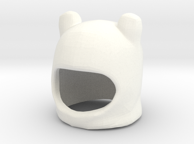 Custom Finn The Human Inspired Hat for Lego in White Processed Versatile Plastic
