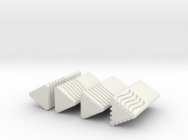 5th Element Stones 4.5 cm tall, solid design in White Natural Versatile Plastic