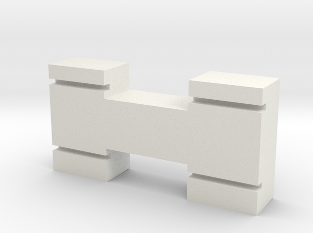 N-Gauge-Block in White Natural Versatile Plastic