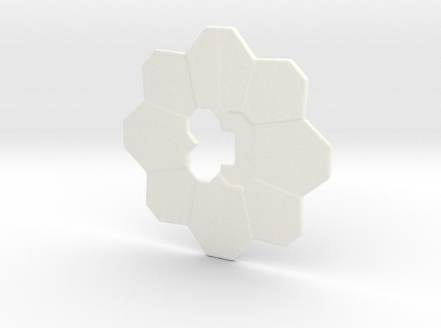 Pokemon badge in White Processed Versatile Plastic