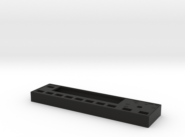 KT 76C Transponder Faceplate in Black Natural Versatile Plastic