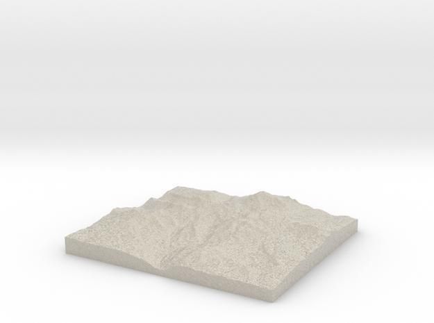 Model of Ink Lake in Natural Sandstone
