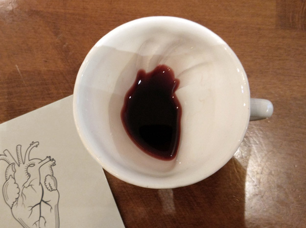 Anatomical Heart in a Mug