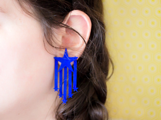 Stars And Stripes Earrings (for Studs)