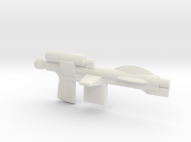 Trooper Blaster Full Size - (Right Half Only) in White Strong & Flexible