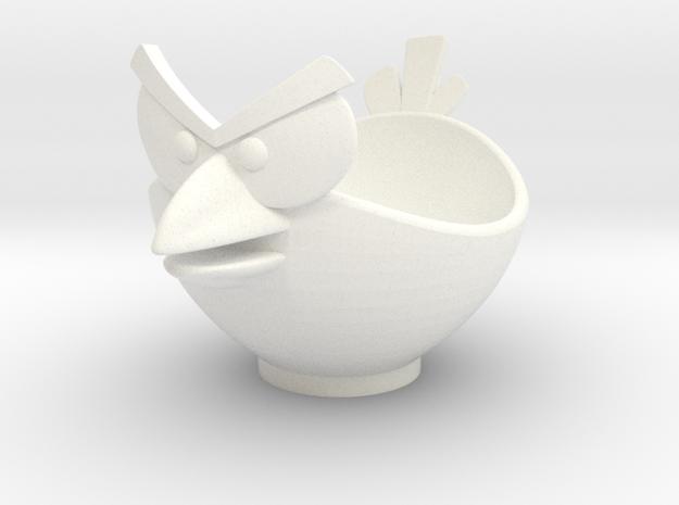 Bird Egg Cup in White Processed Versatile Plastic