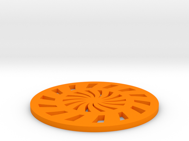 Coaster-3 in Orange Processed Versatile Plastic