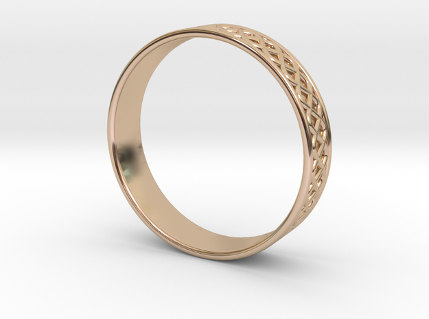 Ornamental Ring in 14k Rose Gold Plated Brass