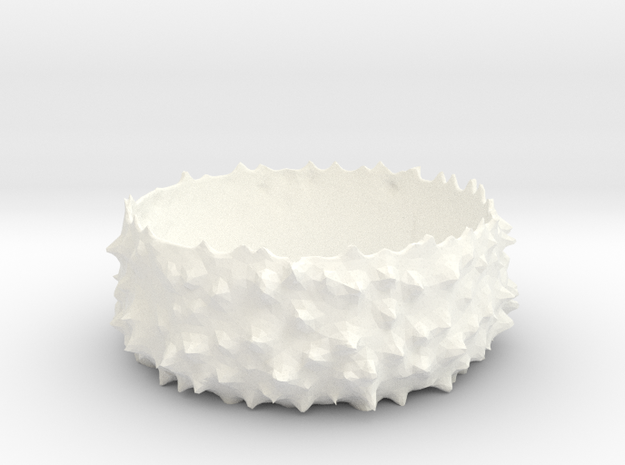 Spiky Bowl in White Processed Versatile Plastic