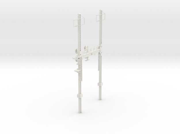 Custom HO Scale PRR W--signal Beam 2 Track  W 2 PH in White Natural Versatile Plastic