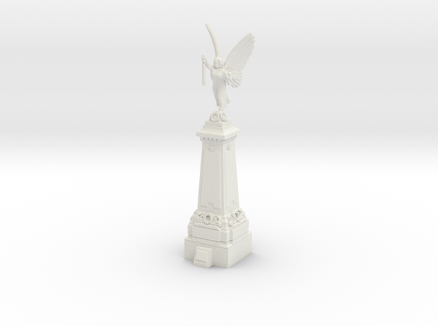 TT Gauge War Memorial in White Natural Versatile Plastic