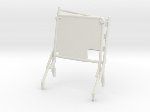 02D-LRV - Open Right Seat in White Natural Versatile Plastic