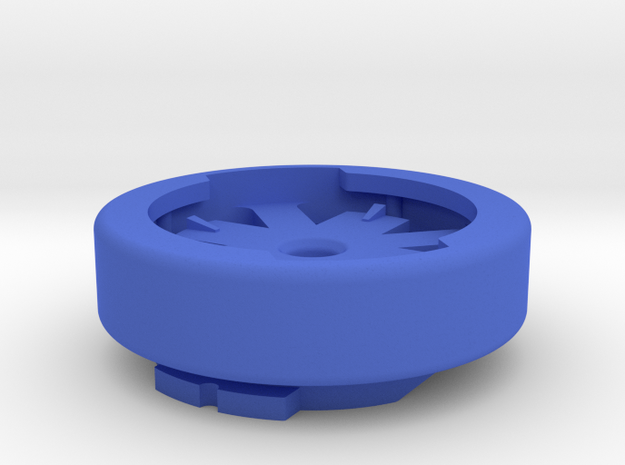 Garmin Quarter-turn To Eighth-turn Adapter in Blue Processed Versatile Plastic: Small