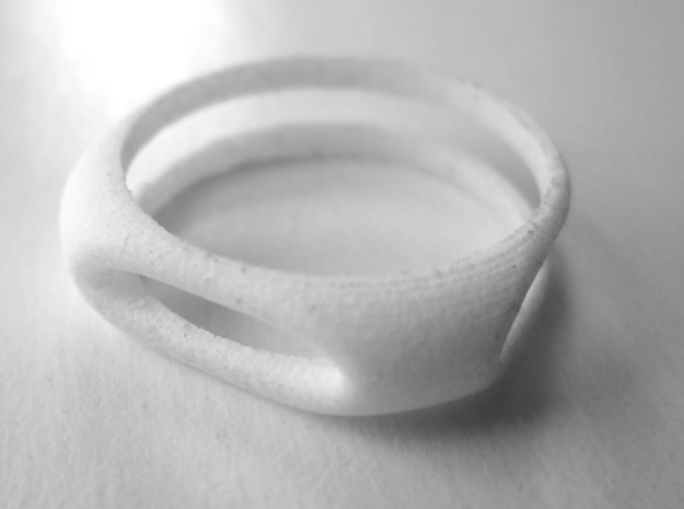Nested Rings: Middle Ring (Size 10) in White Processed Versatile Plastic