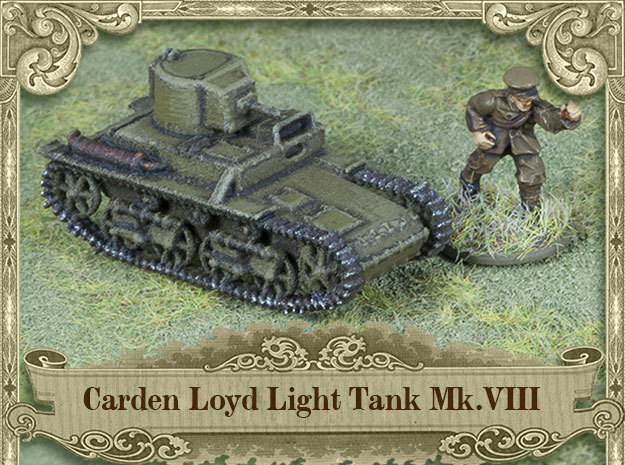 Carden Loyd Light Tank Mk.VIII (1:100 scale) in White Strong & Flexible