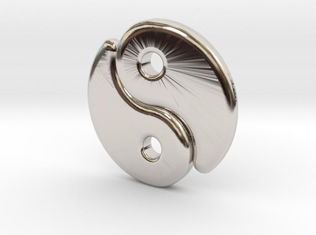 Tao drops (metal) in Rhodium Plated Brass