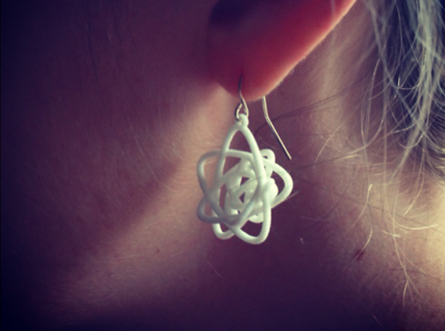 Sprouted Spiral Earrings 3d printed White Strong & Flexible