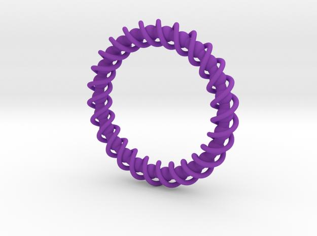 Spinning Bracelet in Purple Processed Versatile Plastic