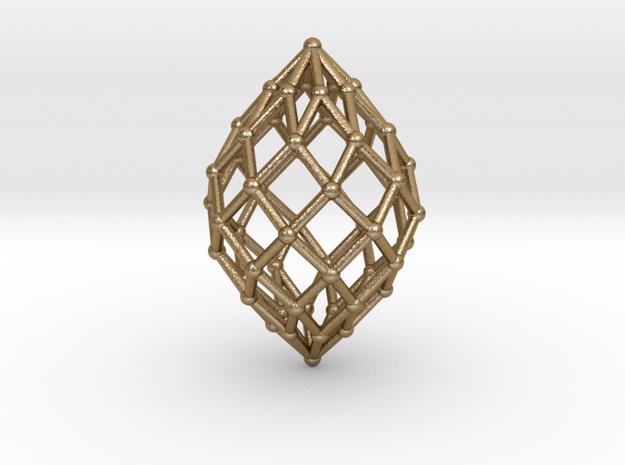 0515 Polar Zonohedron V&E [8] #002 in Polished Gold Steel