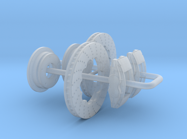 1/25 Modern 11p6 Inch Diam 4 Piston Disk Brake Set