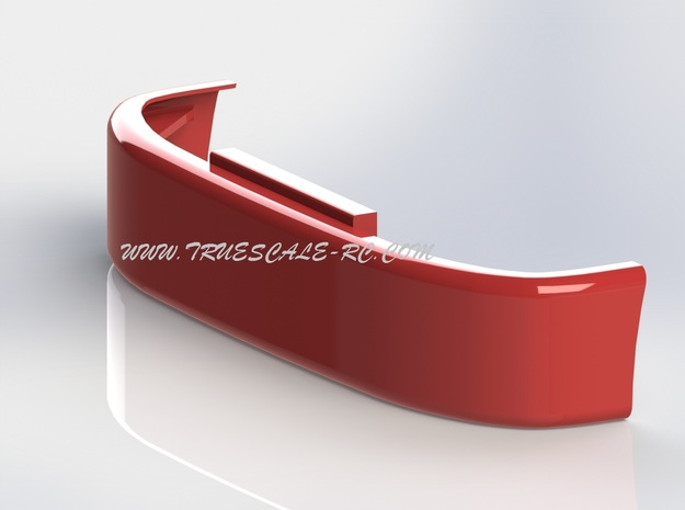 386 Style Bumper (TS-BP-0001) in White Natural Versatile Plastic